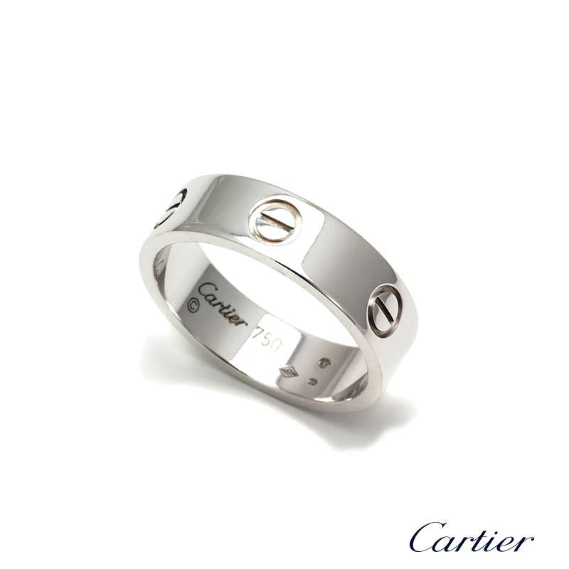 Cartier 18k White Gold Love Ring Size 59 B4084700